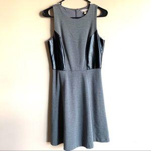 Banana Republic A Line Dress Gray Leather Size 4